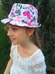 Шляпка федора с принтами
