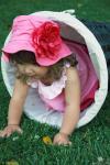 Панама JAMIE RAE HATS  малиновая с малиновой  розой