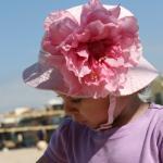 Панама GIGIS розовая/розовый шелковый пион