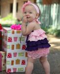 Топ розово-фиолетовый с рюшами Ruffle Butts (США). Размер на 12-18 мес, 2 и 3 го