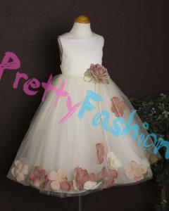 кремовое платье Kids dream